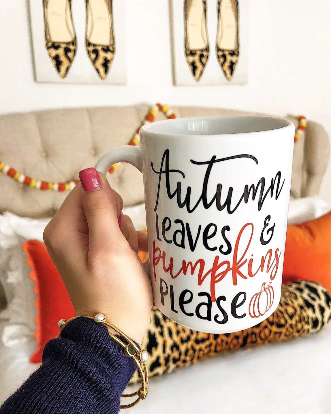 Fall Coffee Mug + Fall Bedroom Decor - Something Delightful Blog