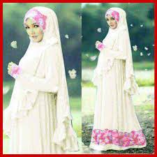 Kumpulan Busana Muslim Gamis Warna Putih Terbaru Trend