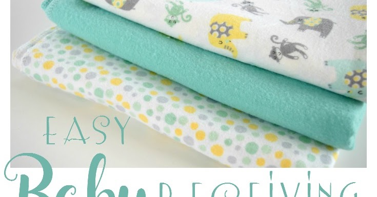 How To Make An Easy Baby Receiving Blanket Adventures Of