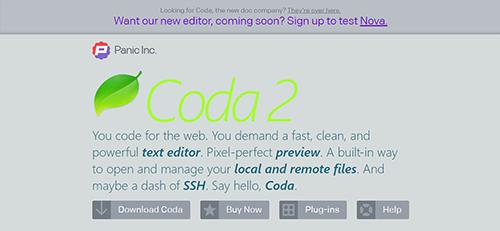 text editor coda