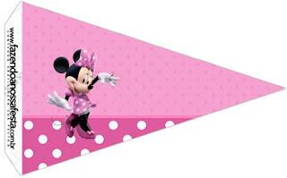 Coqueta Minnie en Rosa:Imprimibles Gratis para Fiestas.