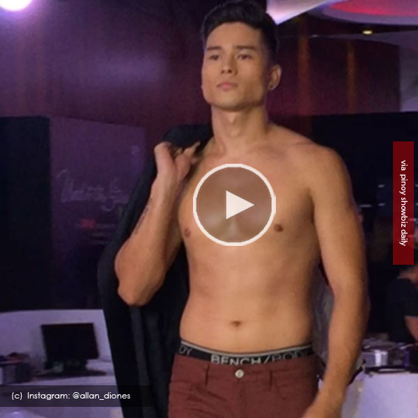 Watch: Marco Gumabao strips half naked for Bench's 30th anniversary show preview
