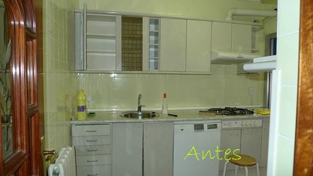 Antes y despu s la cocina de patricia despu s de pintar - Colores de pinturas para azulejos ...