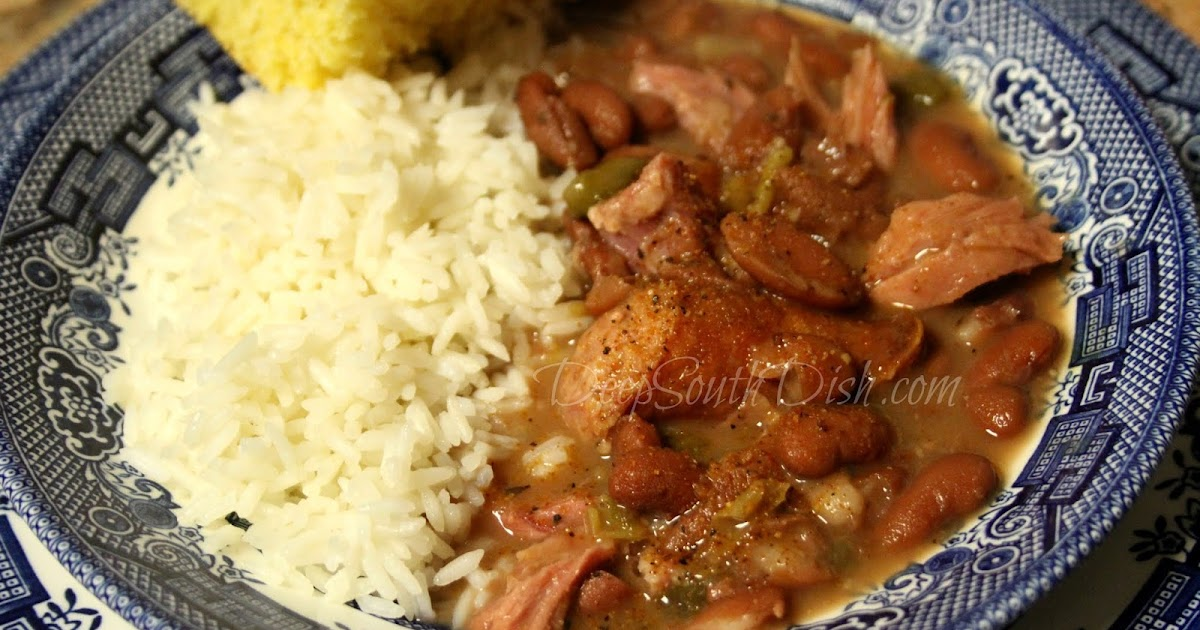 Deep South Dish Ham Bone Red Beans And Rice In The Instant Pot Electronic Pressure Cooker