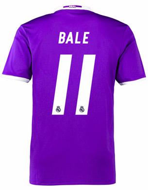 camiseta segunda jugador Bale Real Madrid 2016 2017