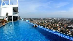 Mencoba Kolam Renang RoofTop Star Hotel Semarang