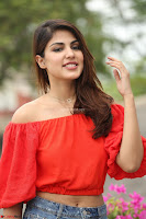 Rhea Chakraborty in Red Crop Top and Denim Shorts Spicy Pics ~  Exclusive 067.JPG