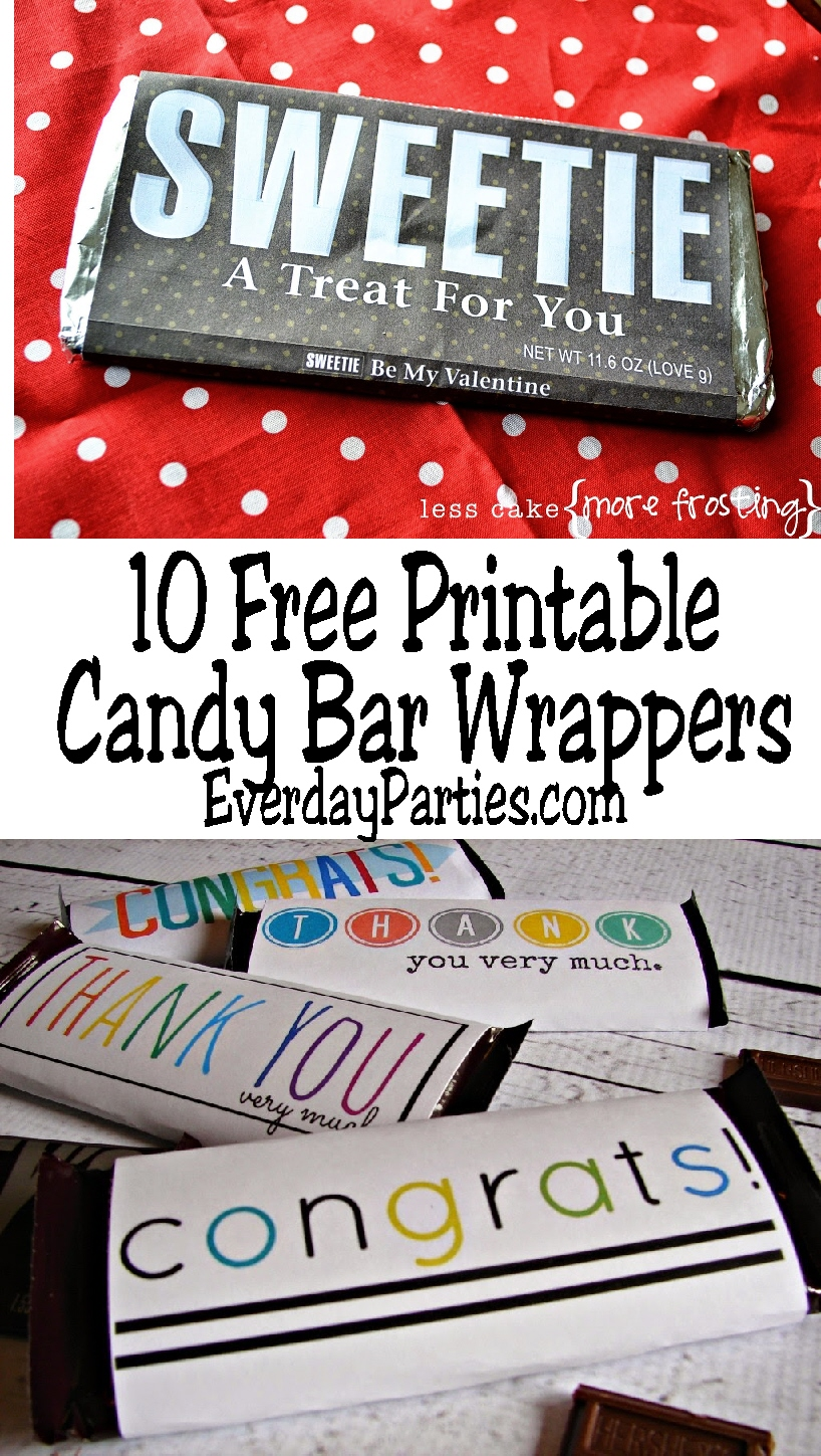 10 printable candy bar wrappers