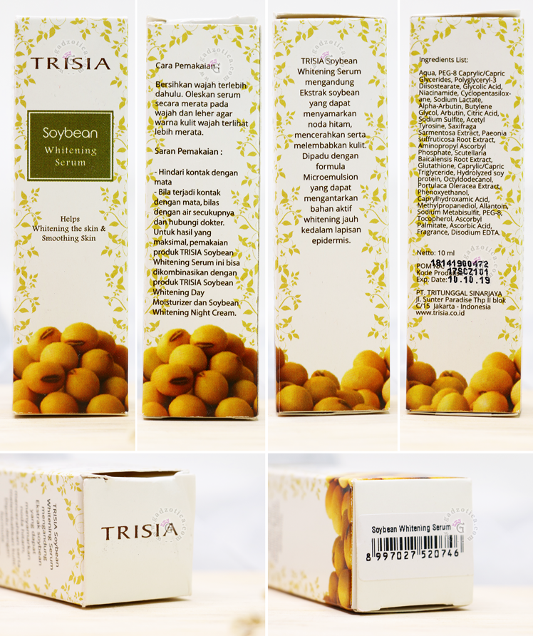 Trisia Soybean Whitening Serum
