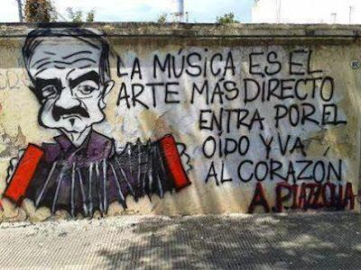 Graffiti frase de Piazzola