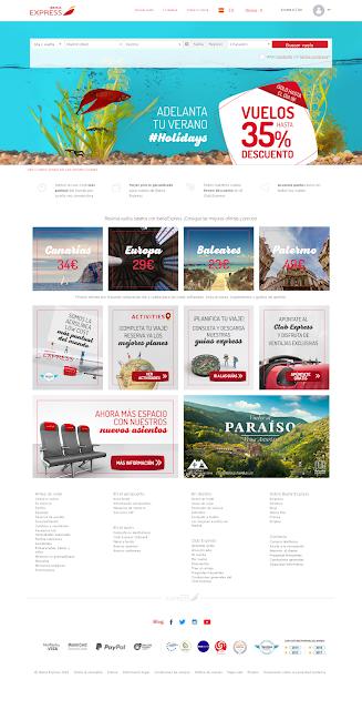 Pagina principal de Iberia Express