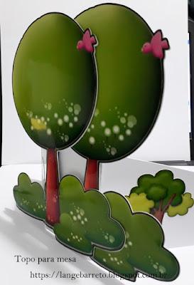 Topo para decoração de mesa