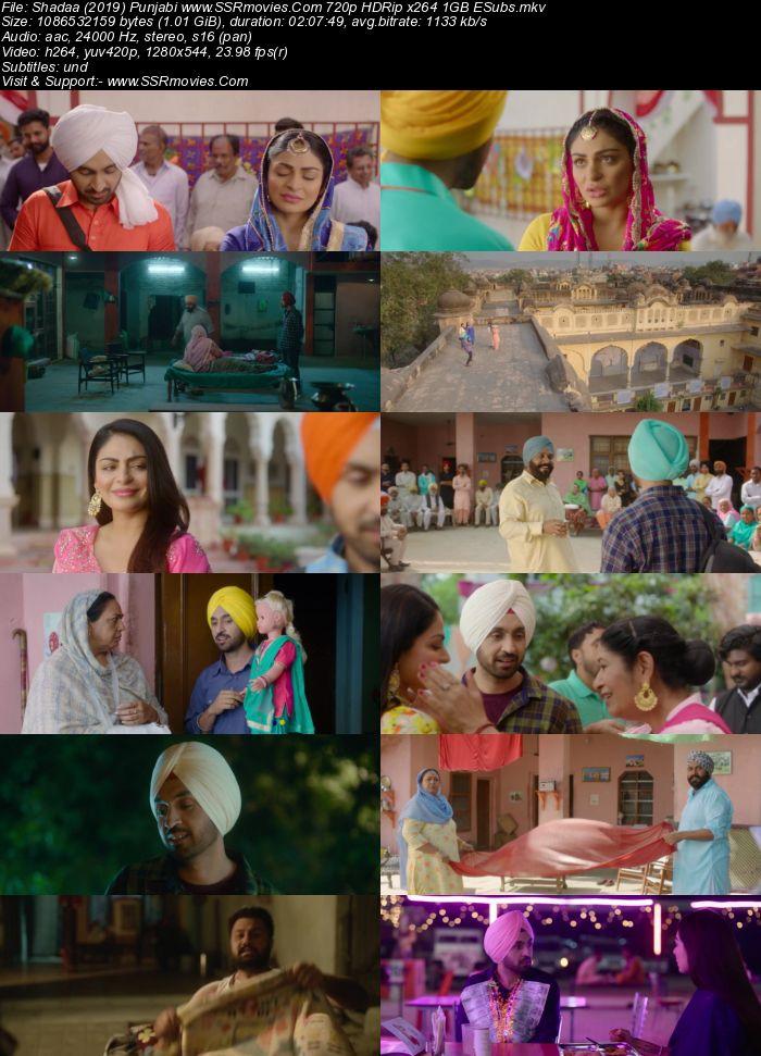 Shadaa (2019) Punjabi 720p HDRip x264 1GB ESubs Movie Download