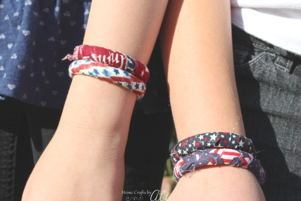 quick and easy kids tween craft project patriotic bracelet