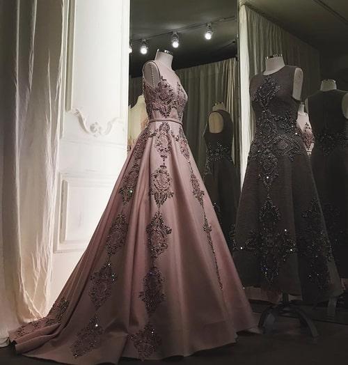 vestido longo estilo princesa rose