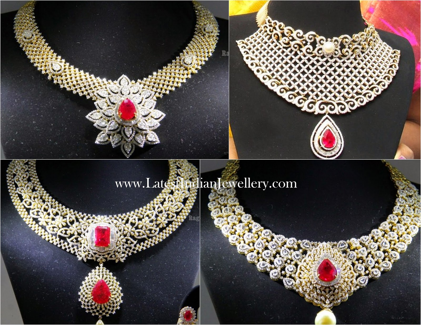 diamond ruby jewellery designs malabar