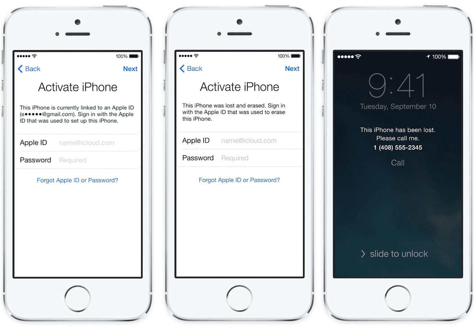 brancher iPhone à iCloud