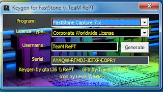 FastStone CaptureScreen RecorderSerial Key Generator