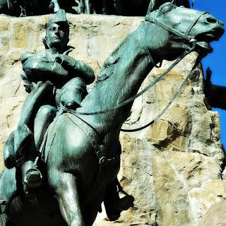 General José de San Martín Estuda a Travessia - Monumento La Patria al Ejército de los Andes, Parque General San Martín, Mendoza