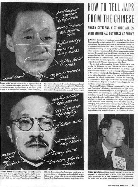 Life magazine article on how to tell Japanese and Chinese apart, 22 December 1941 worldwartwo.filminspector.com