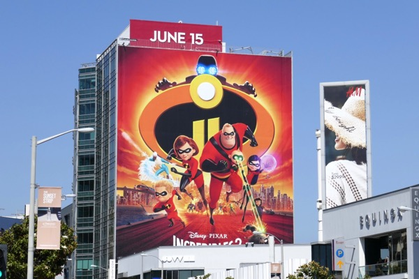 Giant Incredibles 2 movie billboard
