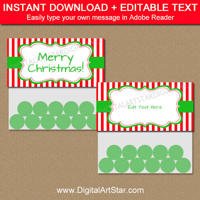 Christmas party favor bag toppers