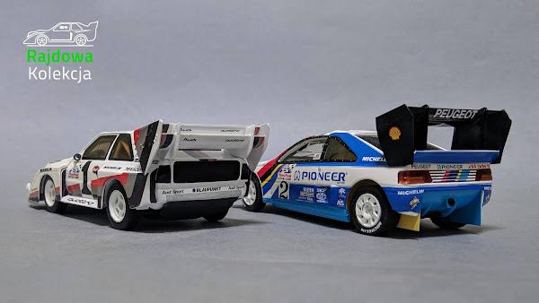 Minichamps Audi Sport Quattro S1 PP and Spark Peugeot 405 T16 PP - Pikes Peak Winners 1987, 1988