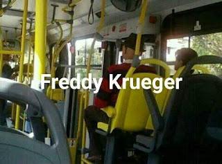 Parecidos de famosos en el transporte público freddie krueger
