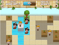 Help these pirates out with a little H2O to fetch! #StrategyGames #FloodedVillage #FlashGames