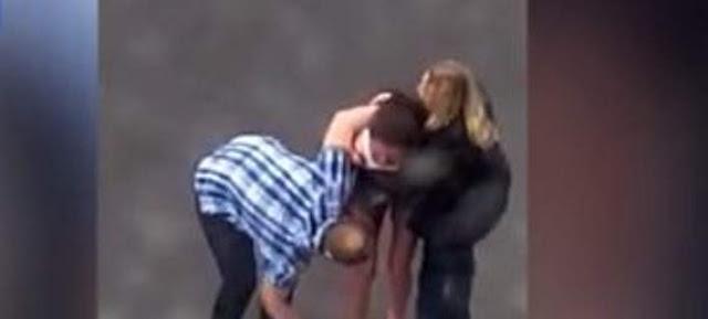 Εξοργιστικό: Αντρας γρονθοκοπεί ανελέητα τη φίλη του και τη ρίχνει αιμόφυρτη στο έδαφος [βίντεο]
