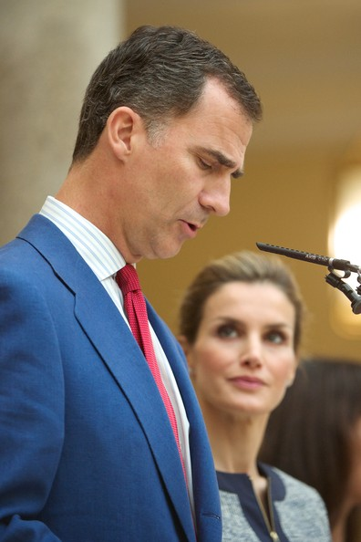 King Felipe and Queen Letizia attended a meeting t Palacio de El Pardo