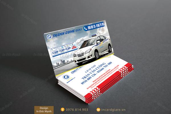 Mẫu card visit taxi Thành Công