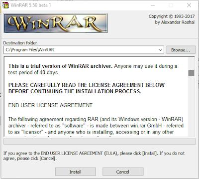 WinRAR 5.50 Beta 1 (x86+x64) + Keygen