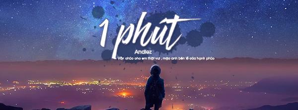 PSD Bìa bài hát 1 Phút - Andiez