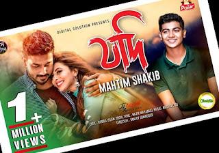 Jodi By Mahtim Shakib-Lyrics Bangla Song Poster