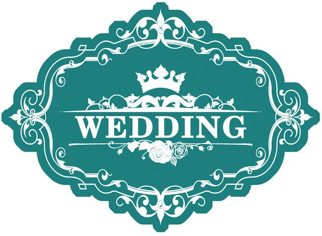 Chữ Wedding bảng tên đám cưới.