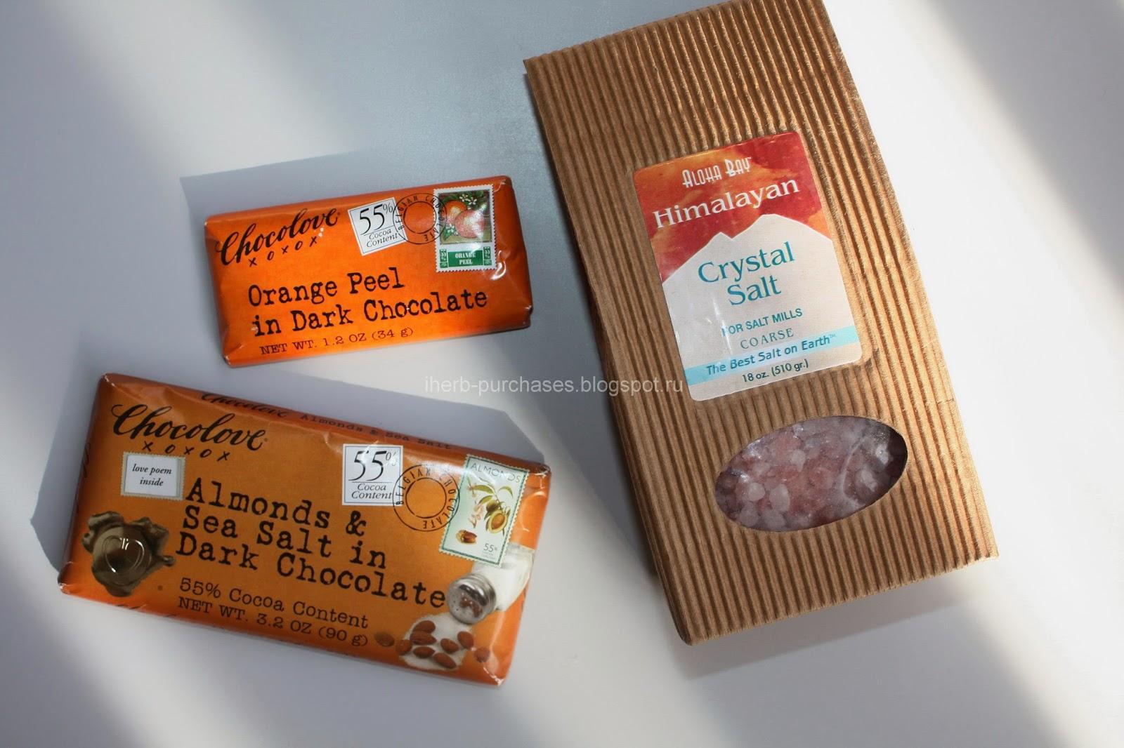 Шоколад Chocolove + розовая соль Aloha Bay