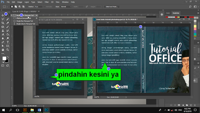Cara mengganti gambar mockup buku di photoshop + video