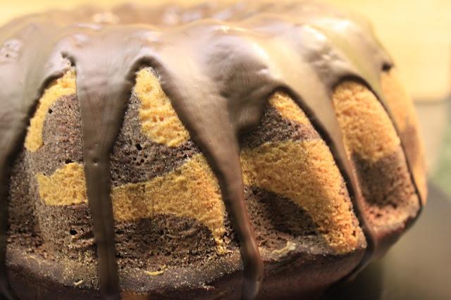 Kuchen mit Zebramuster