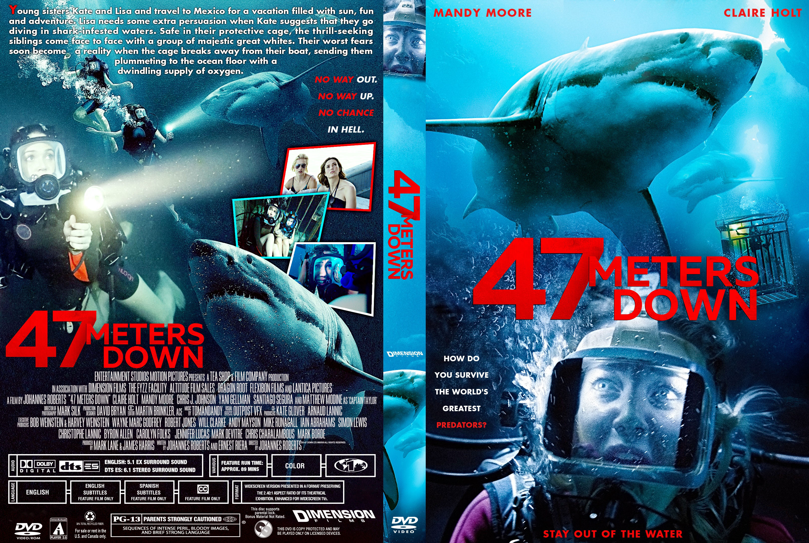 47 Meters Down DVD Cover   Cover Addict - Free DVD, Bluray Covers and Movie Posters