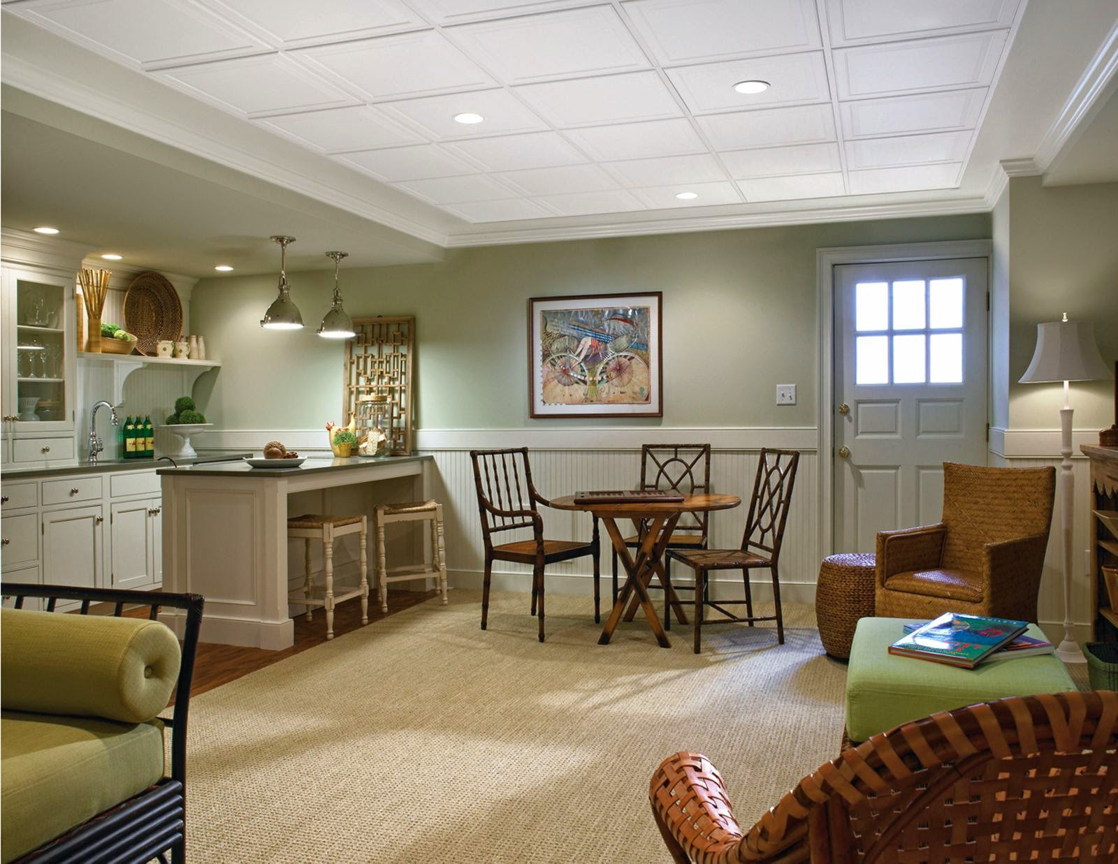 Basement Ceilings {Then and Now} | The Interior Frugalista
