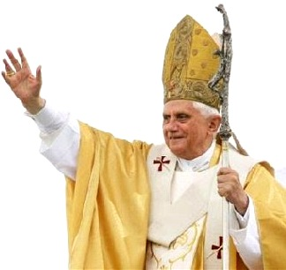Foto de Benedicto XVI con traje de obispo