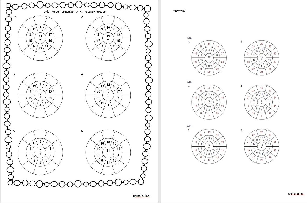 Free Maths Worksheets For Kids Math Worksheets