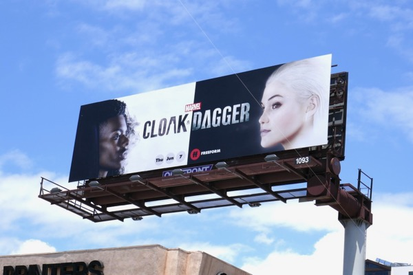Cloak & Dagger series launch billboard