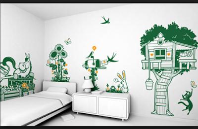 Desain Motif Wallpaper Kamar Tidur Anak Terbaik 2018 13