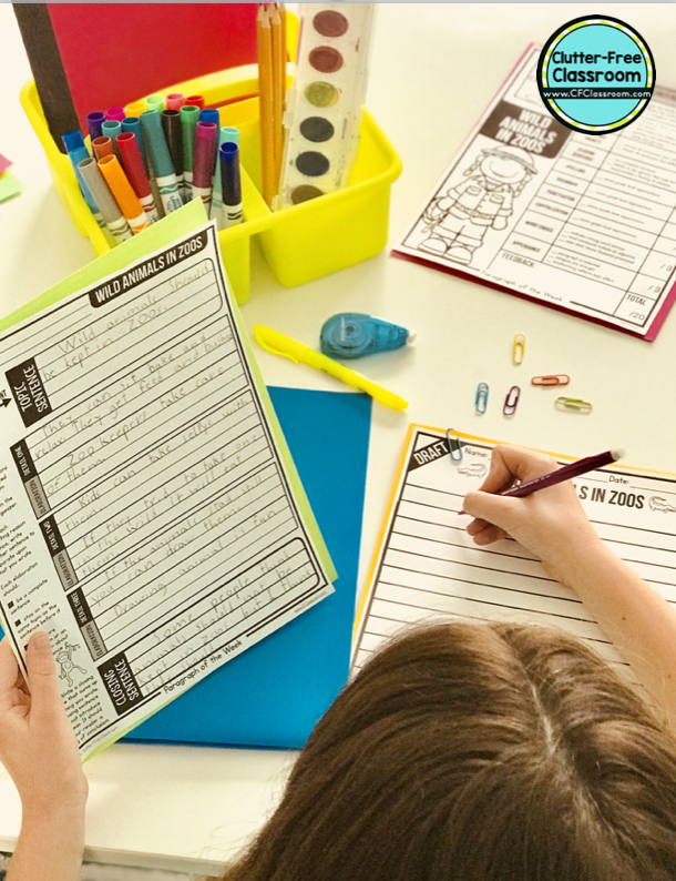 Are you wondering how to teach paragraph writing? Once students know how to write a sentence they are ready for this packet of graphic organizers, anchor charts, writing samples, scoring rubrics and checklists. Daily writing practice will guide reluctant writers through the writing process and help advanced writers improve as well.