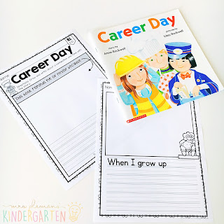 We love reading and learning about community helpers in our kindergarten classroom, but planning meaningful comprehension activities can be a challenge. This Community: Read & Respond pack made it super easy to teach 5 comprehension skills for 5 of our favorite picture books. Students especially love the themed crafts and writing prompts too!
