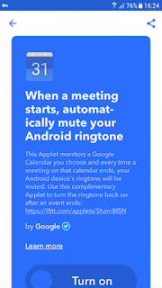 ifttt mutering pertemuan android