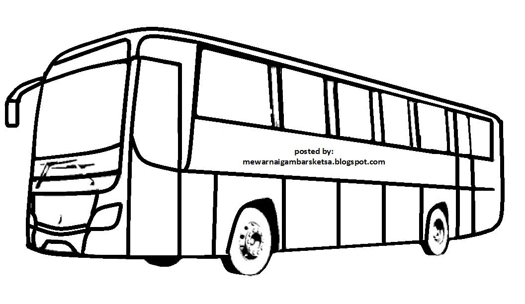 Mewarnai Gambar Mewarnai Gambar Bus 3