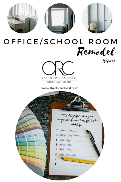 Office and School Room Remodel for the Fall One Room Challenge